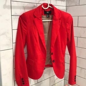 H&M red tailored blazer